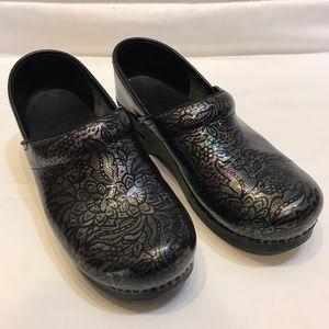 EUC • Dansko Iridescent Flower Shoes